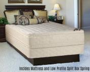 Continental Sleep Foam Encased Fully Assembled Eurotop 36cm Orthopaedic Mattress and 13cm Split Box Spring,Full XL