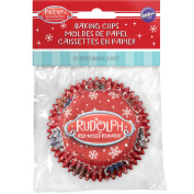 Standard Baking Cups-Rudolph The Red Nosed Reindeer