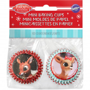 Mini Baking Cups-Rudolph The Red Nosed Reindeer