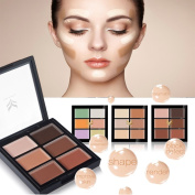 Cosmetics Cream Contour and Highlighting Makeup Kit Contouring Foundation Concealer Palette Vegan Cruelty Free Hypoallergenic Step-by-Step Instructions Included