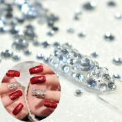 1000pcs Nails Art Rhinestones Mix 2mm 3mm 6mm Clear Crystal Round Beads Nails DIY Transparent Rhinestone for Fingers