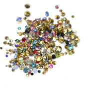 Nizi Jewellery Mixed Colour ss6-ss38 And Mixed Sizes Pointback Resin Rhinestones Beads For Phone Nail Art DIY Decoration Many Sizes Mixed Colour ss12 3mm