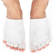 Dr.Koyama Best SPA Pedicure Socks Gel Lined Toe Separating Moisturising Socks Deeply Hydrate Soften Repair Cracked Dry Feet Bunion Sock for Hammered Big Toe Pinky Toe Ball of Foot Diabetic Foot Care