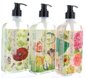 Set Hand Soap Collection Gardenia, Mango Mandarin, Lavender Lily by Imaginary Garden w/ Pump