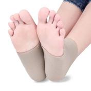 2Pcs Silicone Moisturising Gel Heel Socks Cracked Foot Skin Care Protector Feet Massager