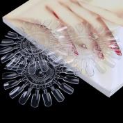 Buildent(TM) Roundness Nail Art Practise Design Training Polish Colour Display Card Nail Colour Chart 1018Tips 10Pcs