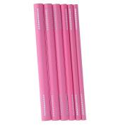 Buildent(TM) 6Pcs Nail Art Tools Different Size Curve Rod Sticks Artificial Nail Tool Pink/Black