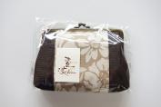 "Yamako ""Kakishibu-zome"" Natural Brown 18cm Pouch Gama-kuchi 89079 Made in Japan"