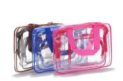 Memela(TM)3PCS Portable PV Travel makeup bag Toiletry Bag Multifunction Cosmetic Bag Waterproof Organiser for Travel