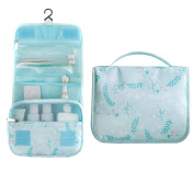 Multifunction Large Travel Toiletry Women Makeup Kit Cosmetic Bag Case Organiser, Haning Portable Brushes Pouch Blue