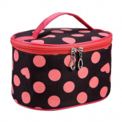 Trenton Tote Women's Polka Dot Heart Cosmetic Storage Bag Travel Makeup Organiser Pouch