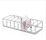 8 Slot Acrylic Desktop Compact Holder Powder Storage Box Transparent Eye Shadow Makeup Set Cosmetic Case