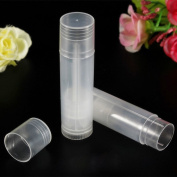 sumanee Clear Empty 5g Cosmetic Containers Transparent Lipstick Bottles Lip Balm Tubes