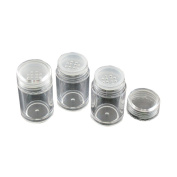 6 Pcs 10ml Loose Powder Container Jar Clear Plastic Travel Cosmetic Glitter Powder Eye Shadow Powder Box Pots Bottles With Sifter and Lids