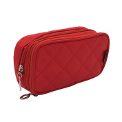 Women Travel Toiletry Bag Purse Small Makeup Beauty Case with Mirror Multifunctional 2 Layer Organiser