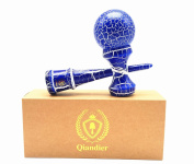 Qiandier Kendama Cracked Whiter and Blue Classic Wooden Sports Toys And Extra String