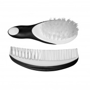 Coconut Baby Brush and Comb Set - Newborn Cradle Cap Girls Boys Perfect Shower Gift