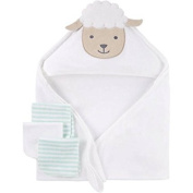 Child of Mine Hooded Towel and 3 WashCloths Set - Lamb