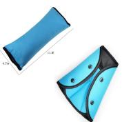 FushoP Seat Belt Safety Covers Adjuster and Seat Belt Shoulder Pads Seatbelt Pillow for Children