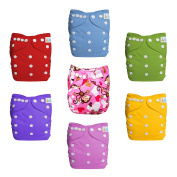 LBB Baby Cloth Nappies (7pcs Pack) and One Free Nappy Bag at Random, LBBZH802