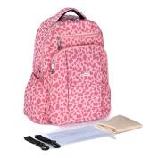 Globalwells Maternity Multifunctional Mummy Large capacity Backpack Travel Tote Bag Baby Nappy Handbag Nappy Changing Bag Pink