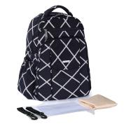 Globalwells Maternity Multifunctional Mummy Large capacity Backpack Travel Tote Bag Baby Nappy Handbag Nappy Changing Bag Black