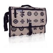 Portable Baby Changing Kit w/ Baby Wipe Holder - Travel Changing Station - GubbleBum - Aztec (Black Border) Design