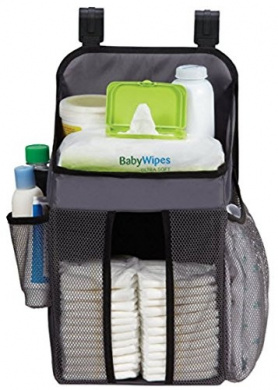 Playard Nappy Caddy and Nursery Organiser for Baby's Essentials - Grey