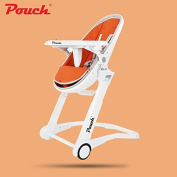 POUCH baby highchair, adjust height child dining chair, egg design baby feed table