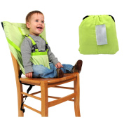 Portable Baby Chair Belt Baby Chair Harness Baby Safety Seat Chair Cover Washable Green