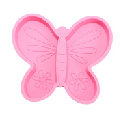 brinware Silicone Divider Plate, Pink Butterfly