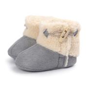 KuoShun Baby Girls Bowknot Keep Warm Soft Sole Snow Boots Crib Prewalker Shoes