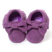 KuoShun Baby Girls Crib Tassels Bowknot Shoes Toddler Sneakers Casual Shoes