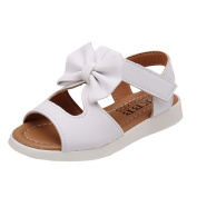 KuoShun Girls' Closed-Toe Leather Solid Flower Outdoor Sport Casual Sandals