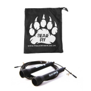 Bear Grip - Best Skipping Speed Jump Rope, Adjustable 3m Cable, ( STEEL BALL-BEARING mechanism) For Cardio, Boxing, MMA, Crossfit with FREE GYM GEAR BAG