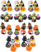 Halloween Rubber Duckies - Bulk Variety Pack Bundle of 48 Rubber Ducks - Zombies, Dracula, Werewolf, Frankenstein, Black Cat, Pumpkin, Ghost, Skeleton, Witch, Candy Corn Designs