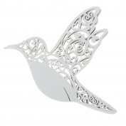 DierCosy 50Pcs Laser Cut Hummingbird Name Place Cards for Wine Glass Wedding Decor