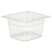 Rubbermaid Commercial Cold Food Pans, 1 2/2.8l, 6 3/8w x 6 7/8d x 4h, Clear