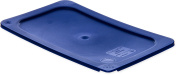 Carlisle 3058160 Smart Lids Quarter Size Polyethylene Lid, Dark Blue