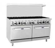 Atosa ATO-10B 150cm Gas Range. (10) Open Burners with Two 70cm 1/2 Wide Ovens