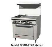 Southbend S36C-1GL S-Series 90cm Gas Restaurant Range w/ (4) Open Burners, 30cm Left Griddle & Cabinet Base