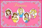 8 X 11 Girls Fun Childrens Room Bedroom Five Princess Pink Area Rug Non Skid