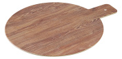 Yanco WD-109 Round Wooden Tray with Handle, 22cm Diameter, Melamine, White Colour, Pack of 24
