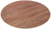 Yanco WD-310 Round Wooden Tray, 25cm Diameter, Melamine, Brown Colour, Pack of 24