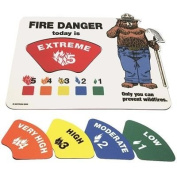 Magnetic Fire Danger Sign, 28cm H x 33cm W By Tabletop King