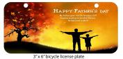 Happy Fathers day Printed Design Mini 7.6cm x 15cm Aluminium Licence Plate