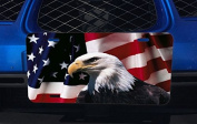 Eagle Head and American Flag Design Image Pattern Aluminium Licence Plate for Car Truck Vehicles