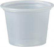 SOLO P100N 30ml Plastic Souffle Portion Cup, Translucent, 250/Pack