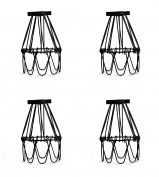 Industrial Metal Bird Cage Lamp Guard String Light Shade Open Close Flower Ceiling Hanging Pendant Island Lighting Vintage Bulb Wire Shading Steampunk Victorian Cover Lightshade Lampshade