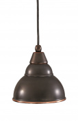 Toltec Lighting 22-BC-427 Cord Mini-Pendant Light Black Copper Finish with Double Bubble Metal Pendant, 15cm